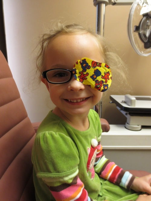 Greta at the eye doctor's (April 25, 2014)