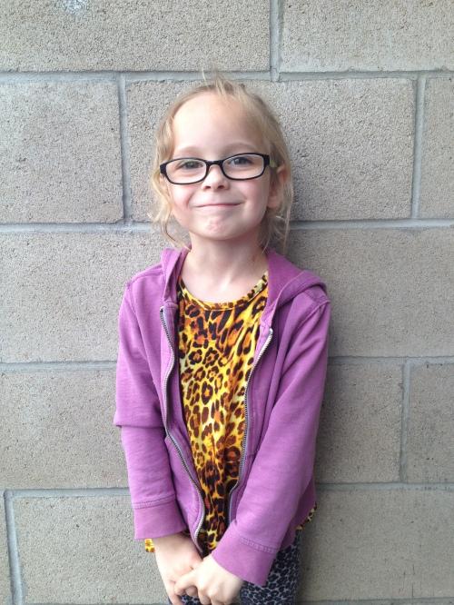 Greta getting glasses @ Costco